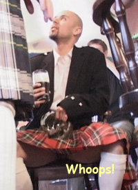 A crowded bar and a hunky kilted target to train my hidden camera on and snap all that was hidden under his tartan. - Gallery 141