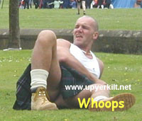 Shocking footage taken at the Highland games